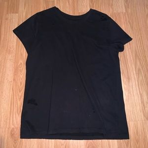 Distressed Abercrombie & Fitch Black T-Shirt